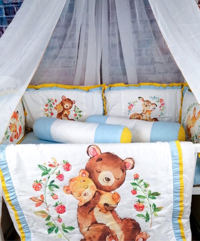 Комплект « Зверюшки», Комплект белья в кроватку, Москва,  Фото №1