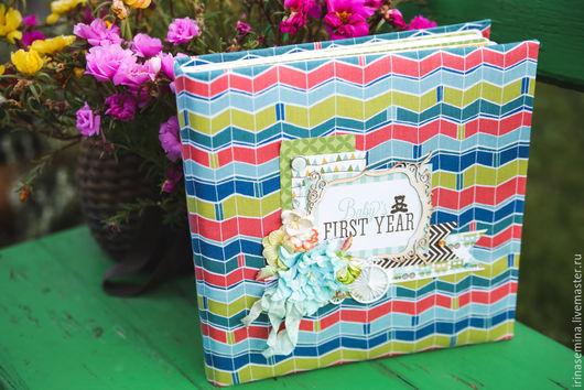 Подарки для новорожденных, ручной работы. Ярмарка Мастеров - ручная работа. Купить Альбом для мальчика. Handmade. Альбом для мальчика, цветы из ткани