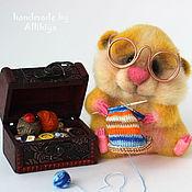 Куклы и игрушки ручной работы. Ярмарка Мастеров - ручная работа Хомяк рукодельный (игрушка из шерсти). Handmade.