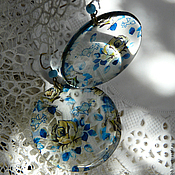 Украшения ручной работы. Ярмарка Мастеров - ручная работа Ситцевая Роза серьги прозрачные. Handmade.