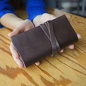 Сумки и аксессуары handmade. Livemaster - original item a pouch for tobacco brown genuine leather. Handmade.