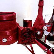 Свадебный салон ручной работы. Ярмарка Мастеров - ручная работа Набор марсала. Handmade.