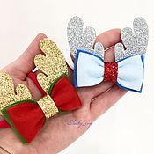 Работы для детей, ручной работы. Ярмарка Мастеров - ручная работа Повязка на голову «Рожки оленя новогодние». Handmade.