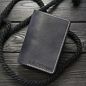 Cover handmade. Livemaster - original item Leather cover for passport and documents. Passport cover leather. Handmade.