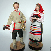 Куклы и игрушки handmade. Livemaster - original item Peasant and peasant woman. Handmade.