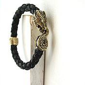 Украшения handmade. Livemaster - original item The black Dragon bracelet genuine leather. Handmade.