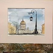 Картины и панно handmade. Livemaster - original item St. Isaac`s Cathedral in watercolor painting is not expensive. Handmade.