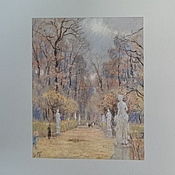 Картины и панно handmade. Livemaster - original item Painting with pastels - summer garden in autumn. Handmade.