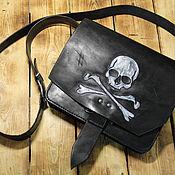 handmade. Livemaster - original item Crossbody bag: Jolly Roger. Handmade.