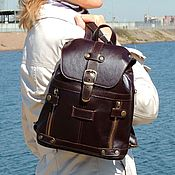 Сумки и аксессуары handmade. Livemaster - original item Small women`s leather backpack brown Aliya Mod R13m-722. Handmade.