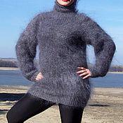 Одежда handmade. Livemaster - original item Sweater pullover knitted down turtleneck 100% goat down. Handmade.