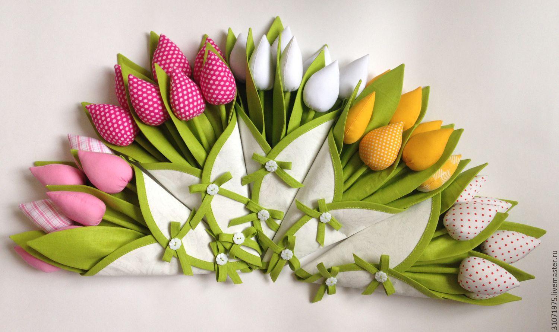 Букет из тюльпанов из ткани своими руками 1