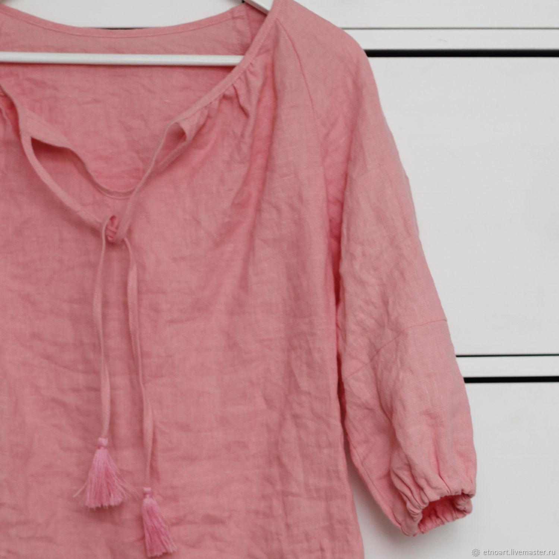 Пудровая блузка в стиле бохо, Блузки, Томск,  Фото №1