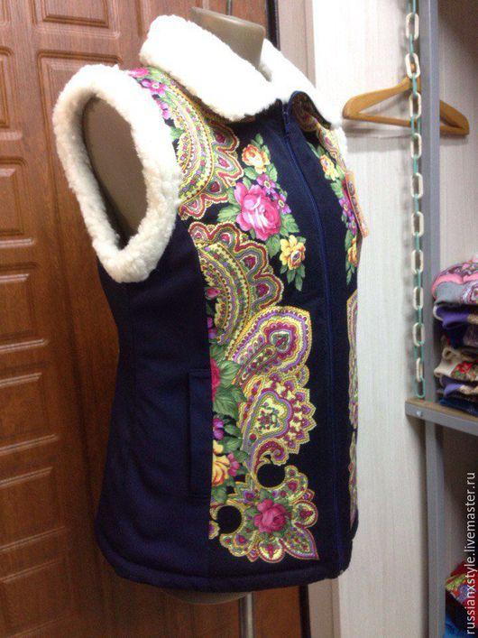 Верхняя одежда ручной работы. Ярмарка Мастеров - ручная работа. Купить жилет с латексными вставками. Handmade. Комбинированный, мутон