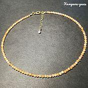 Для домашних животных, handmade. Livemaster - original item Sunny stone choker necklace