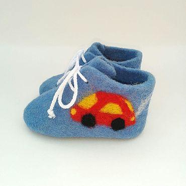 """Обувь ручной работы. Ярмарка Мастеров - ручная работа Пинетки валяные """"Бибика"""". Handmade."""