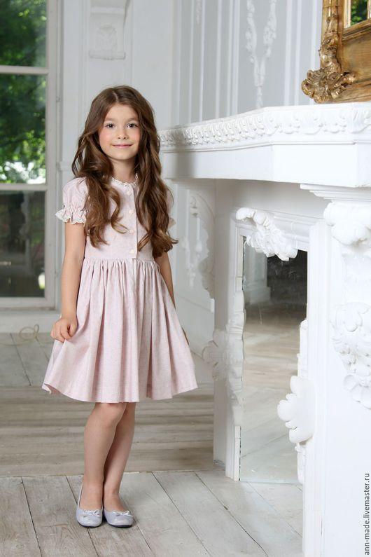 Одежда для девочек, ручной работы. Ярмарка Мастеров - ручная работа. Купить Платье (Арт: Д-87). Handmade. Бледно-розовый