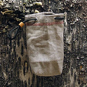 Материалы для творчества handmade. Livemaster - original item Linen pouch - packing. Handmade.