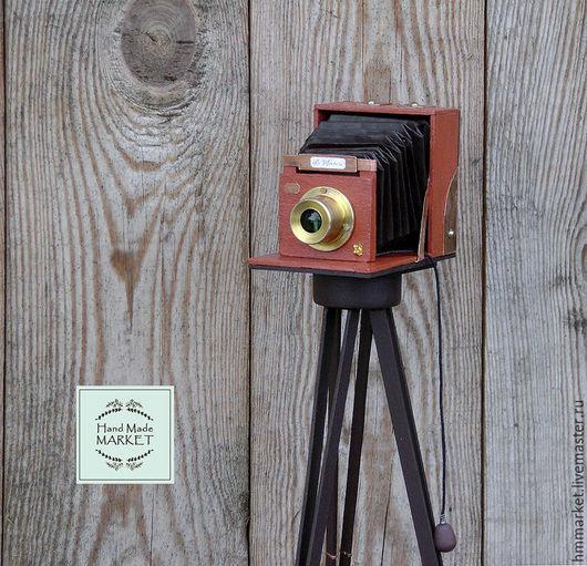 Статуэтки ручной работы. Ярмарка Мастеров - ручная работа. Купить Фотокамера «England.1884». Миниатюра.. Handmade. Оранжевый, интерьерная композиция