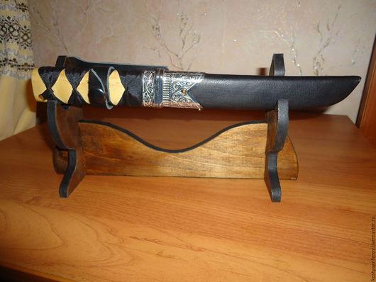 Оружие ручной работы. Ярмарка Мастеров - ручная работа. Купить Нож танто. Handmade. Комбинированный, подставка, берёза, покрытие никелем