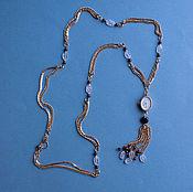 """Украшения ручной работы. Ярмарка Мастеров - ручная работа часы на ожерелье """"прекрасная Чайка"""", розовый кварц, гранаты. Handmade."""
