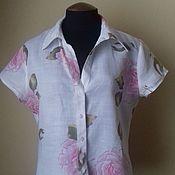 Одежда винтажная ручной работы. Ярмарка Мастеров - ручная работа Винтажная льняная блузка Brookshire. Handmade.