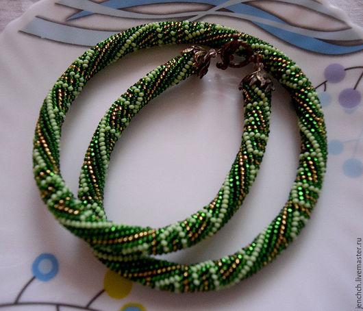 """Колье, бусы ручной работы. Ярмарка Мастеров - ручная работа. Купить Колье из бисера """"Исида"""". Handmade. Зеленый, beaded jewellery"""