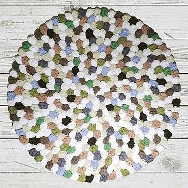 Для дома и интерьера ручной работы. Ярмарка Мастеров - ручная работа Ковер ручной работы круглый вязаный «Замшелые камни». Handmade.