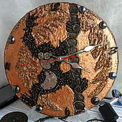 Подарки к праздникам handmade. Livemaster - original item Clock wall Monkey in the style of steampunk ( Steampunk ). Handmade.