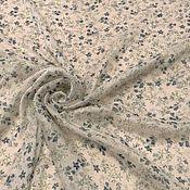 Ткани ручной работы. Ярмарка Мастеров - ручная работа Ткань шифон   креш   ,цветы    ,НИ  11.10 остаток 2, 5 м. Handmade.