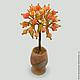 Дерево из агата в вазочке из оникса `Агатовый рай`
