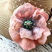 Украшения handmade. Livemaster - original item Poppy pink brooch. Handmade.