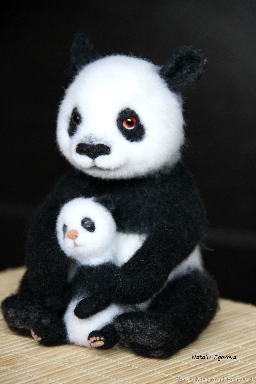 Panda, Felted Toy, St. Petersburg,  Фото №1