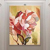 Картины ручной работы. Ярмарка Мастеров - ручная работа Картина маслом Пион для интерьера, в гостиную, спальню большая. Handmade.