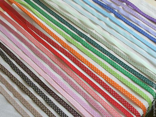 Шитье ручной работы. Ярмарка Мастеров - ручная работа. Купить Ленты репсовые 10 мм в горошек. Handmade. Репсовая лента