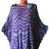 Одежда ручной работы. Ярмарка Мастеров - ручная работа пончо вязаное, туника вязаная. Handmade.