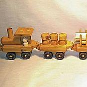 Куклы и игрушки handmade. Livemaster - original item Big wooden train. Handmade.