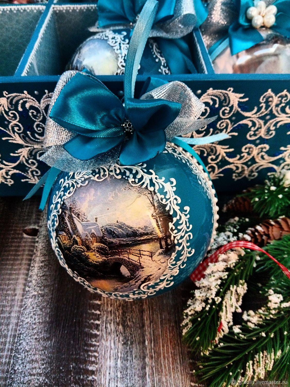Елочные шары с фотографией на заказ москва