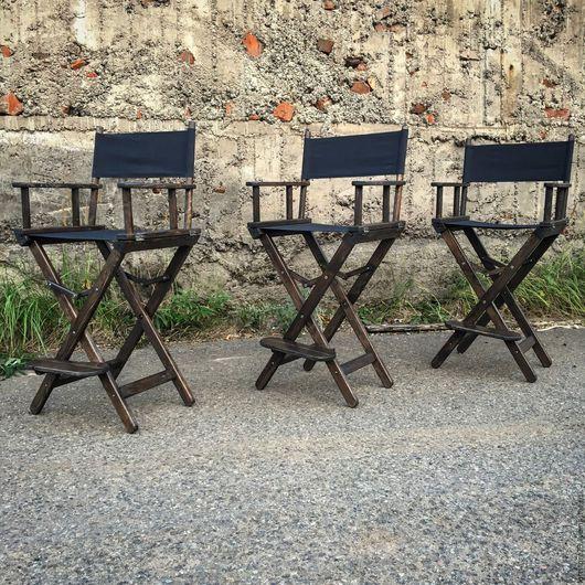 Мебель ручной работы. Ярмарка Мастеров - ручная работа. Купить Кресло режиссера ESPRESSO. Handmade. Кресло режиссера, барный стул