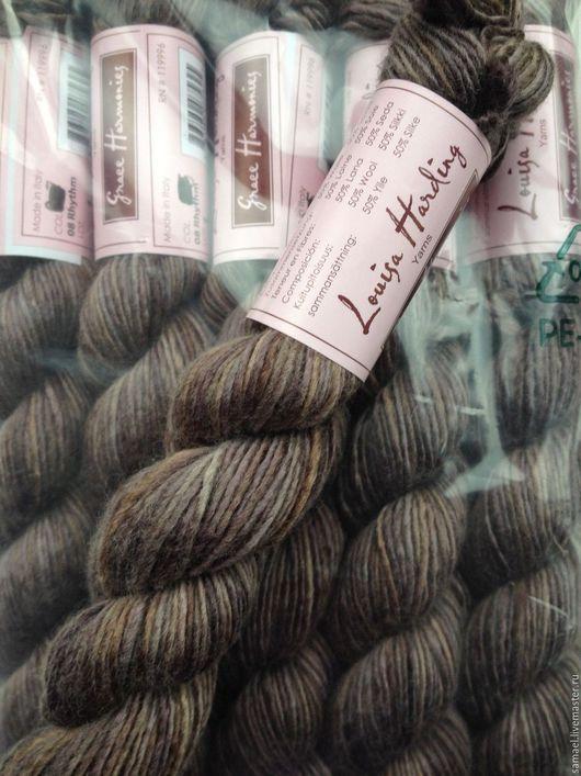 Вязание ручной работы. Ярмарка Мастеров - ручная работа. Купить Пряжа Louisa Harding. Handmade. Коричневый, шерсть, пряжа для вязания