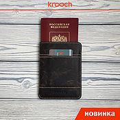 Cover handmade. Livemaster - original item Passport cover TRAVEL. Handmade.