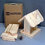 """Куклы и игрушки ручной работы. Ярмарка Мастеров - ручная работа Кормушка для птиц """"Домик"""" набор-конструктор (без красок). Handmade."""