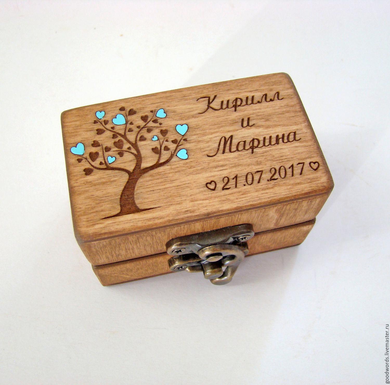 Jewelry box for rings for wedding. Rectangular №1, Caskets for rings, Zheleznodorozhny,  Фото №1