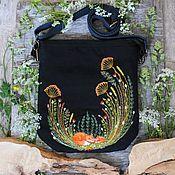 handmade. Livemaster - original item Chanterelle Canvas Crossbody Bag