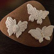 Материалы для творчества ручной работы. Ярмарка Мастеров - ручная работа Молд силиконовый 3D  Три бабочки. Handmade.