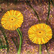 Картины и панно ручной работы. Ярмарка Мастеров - ручная работа Пупавка красильная. Handmade.