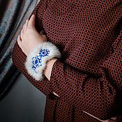 """Украшения ручной работы. Ярмарка Мастеров - ручная работа Браслет из меха норки """"Снегурочка"""". Handmade."""