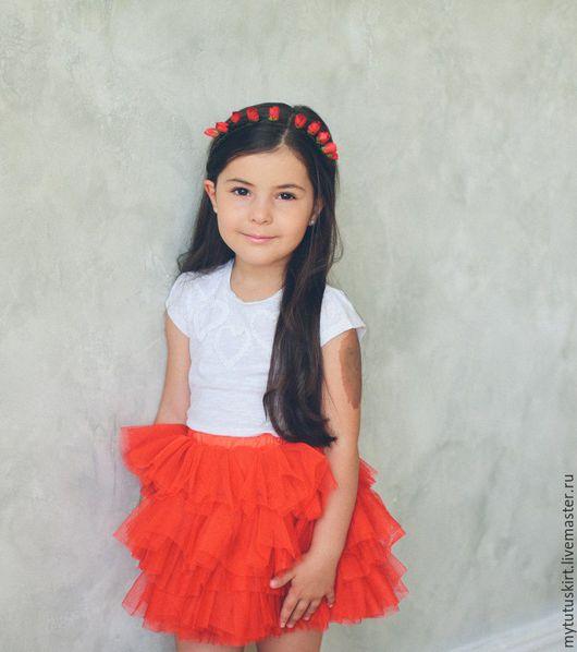 Одежда для девочек, ручной работы. Ярмарка Мастеров - ручная работа. Купить яркая красная юбочка пачка. Handmade. Ярко-красный
