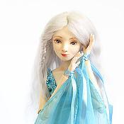 """Куклы и игрушки ручной работы. Ярмарка Мастеров - ручная работа Авторская шарнирная кукла """"Голубой цветок"""". Handmade."""