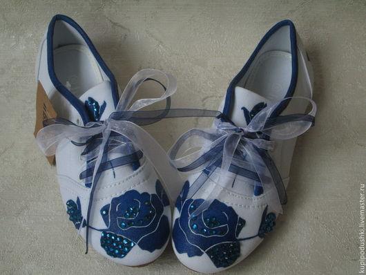 Обувь ручной работы. Ярмарка Мастеров - ручная работа. Купить Дизайнерские женские текстильные летние кеды. Handmade. Текстильная обувь